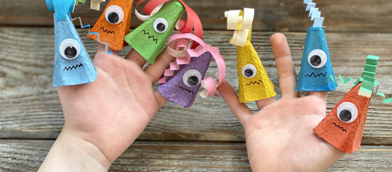 Zabawki wykonane z pudełka po jajkach